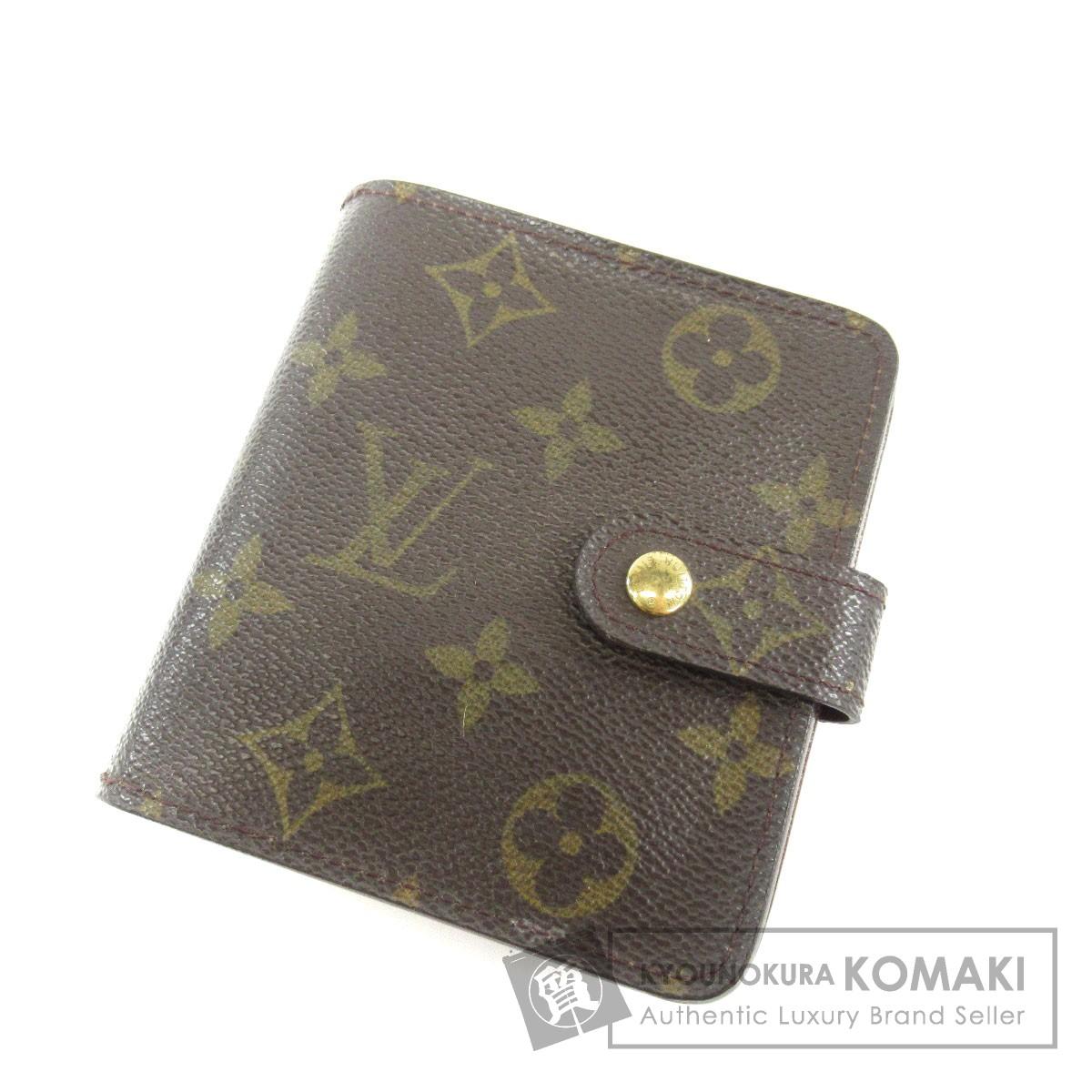 LOUIS VUITTON M61667 コンパクトジップ 二つ折り財布(小銭入れあり) モノグラムキャンバス ユニセックス 【中古】【ルイ・ヴィトン】