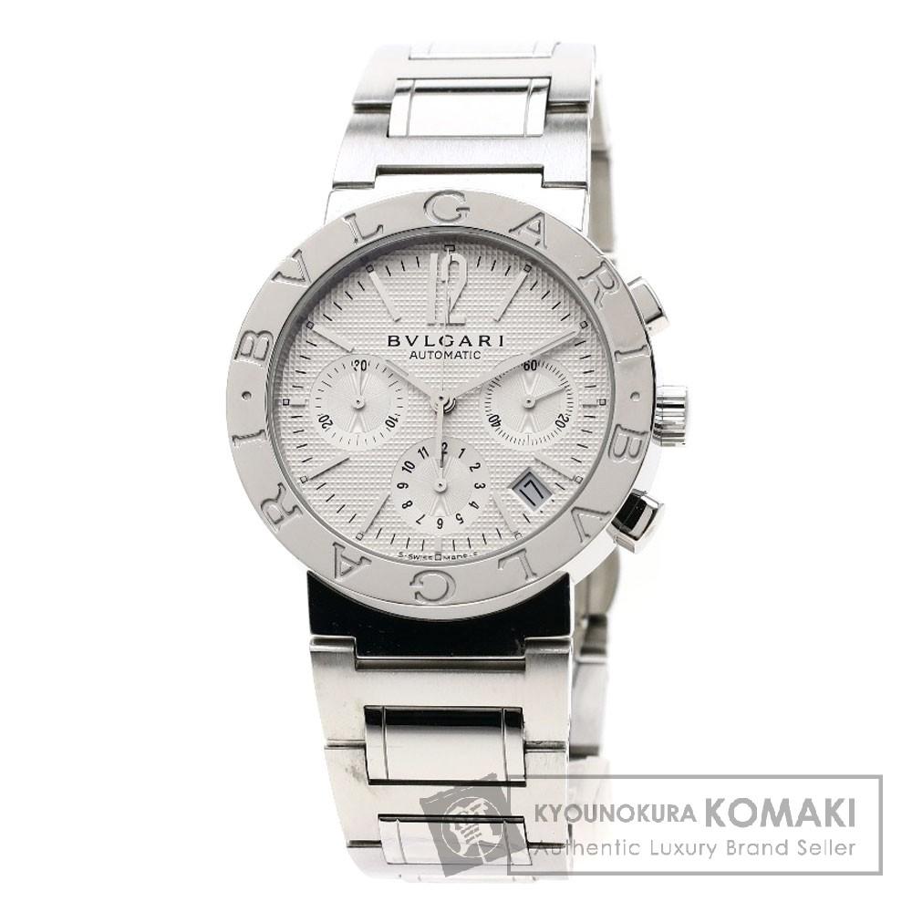 BVLGARI BB38WSSDCH/N ブルガリブルガリ 腕時計 OH済 ステンレススチール メンズ 【中古】【ブルガリ】
