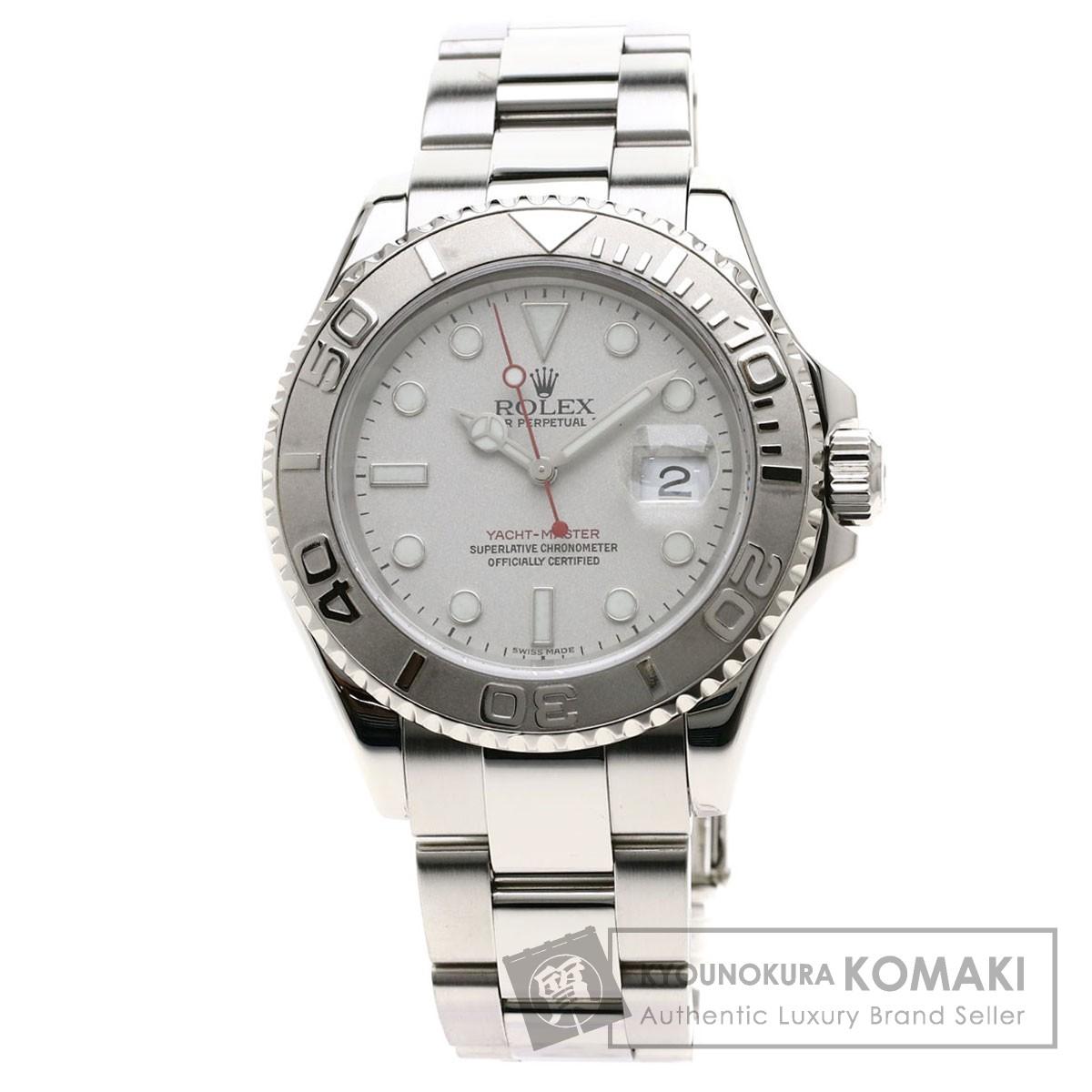 ROLEX 16622 ヨットマスター ロレジウム 腕時計 OH済 ステンレススチール/プラチナ メンズ 【中古】【ロレックス】
