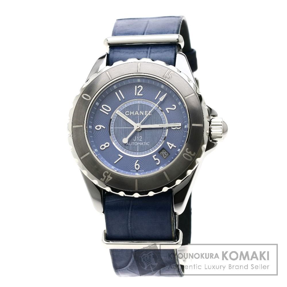 CHANEL H4338 J12 腕時計 OH済 チタン/セラミック メンズ 【中古】【シャネル】