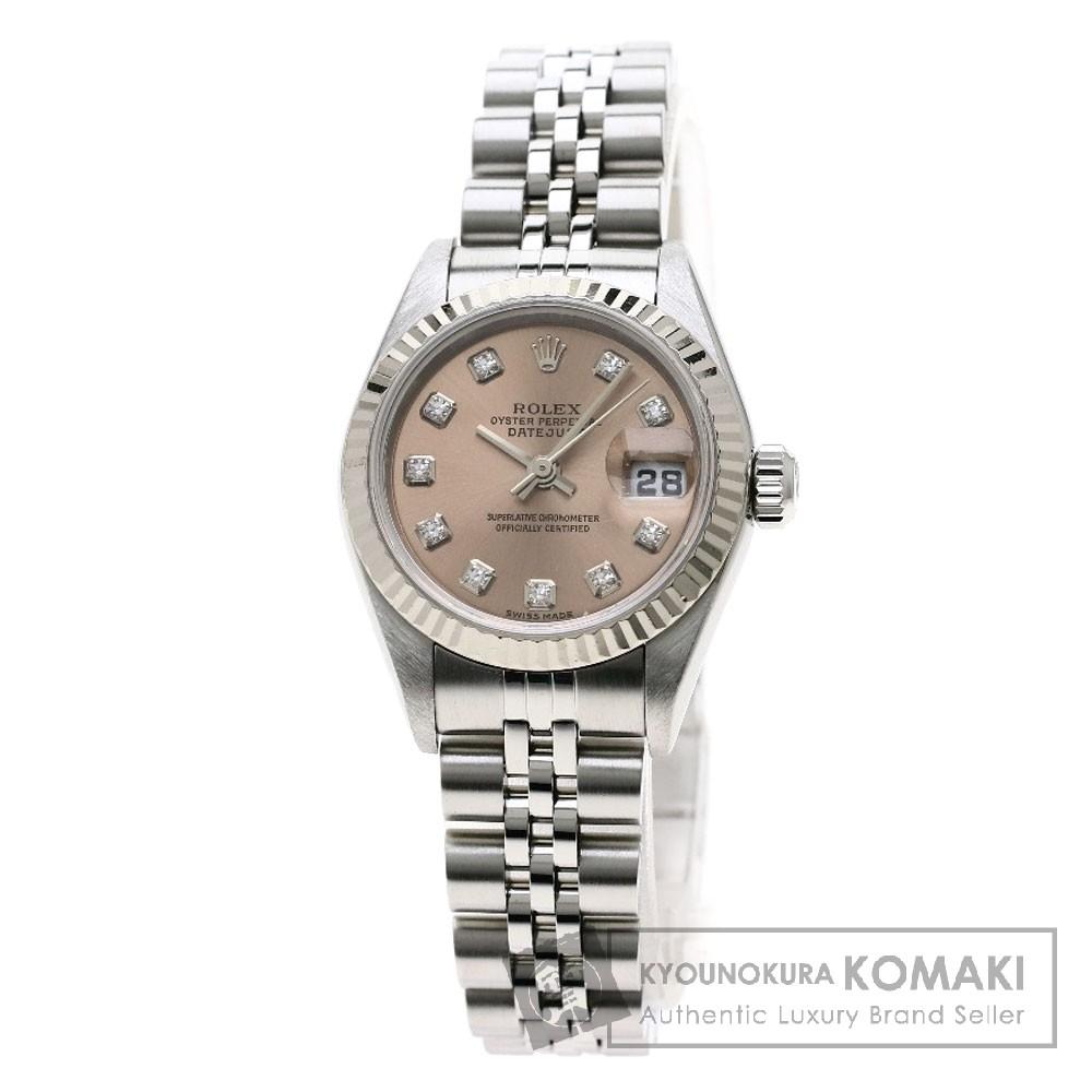 ROLEX 79174G デイトジャスト 10Pダイヤモンド 腕時計 OH済 ステンレススチール レディース 【中古】【ロレックス】