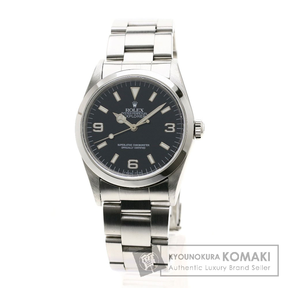 ROLEX 14270 エクスプローラー1 腕時計 OH済 ステンレススチール メンズ 【中古】【ロレックス】