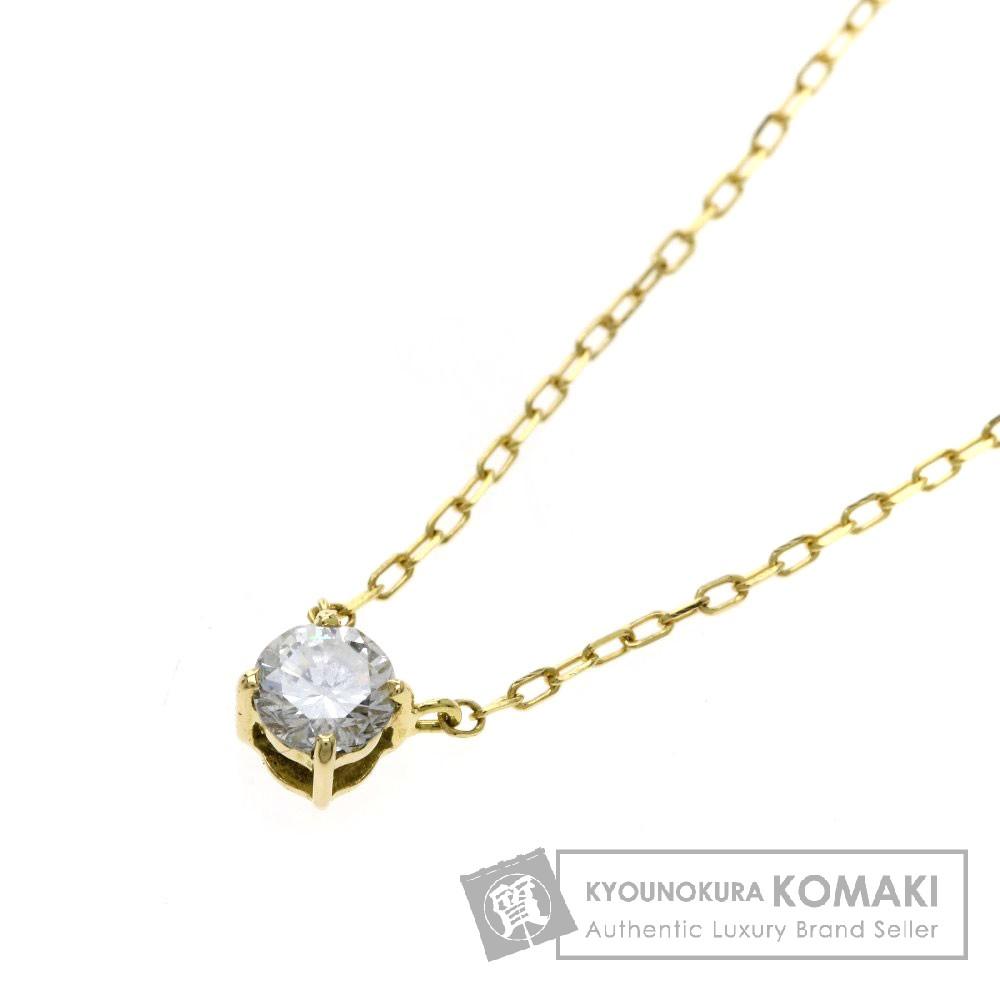 0.15ct ダイヤモンド ネックレス K18イエローゴールド 1g レディース 【中古】