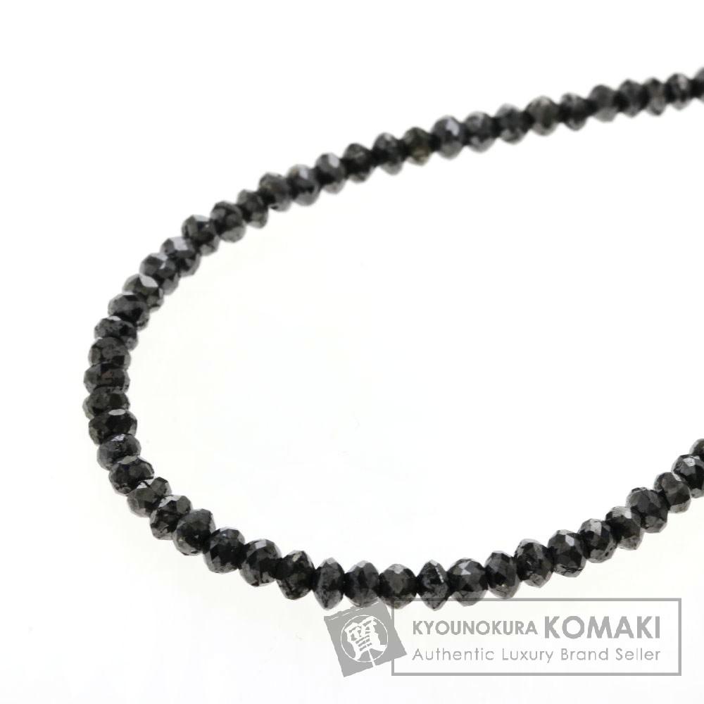 21.35ct ブラックダイヤモンド ネックレス K18ホワイトゴールド 4.9g レディース 【中古】
