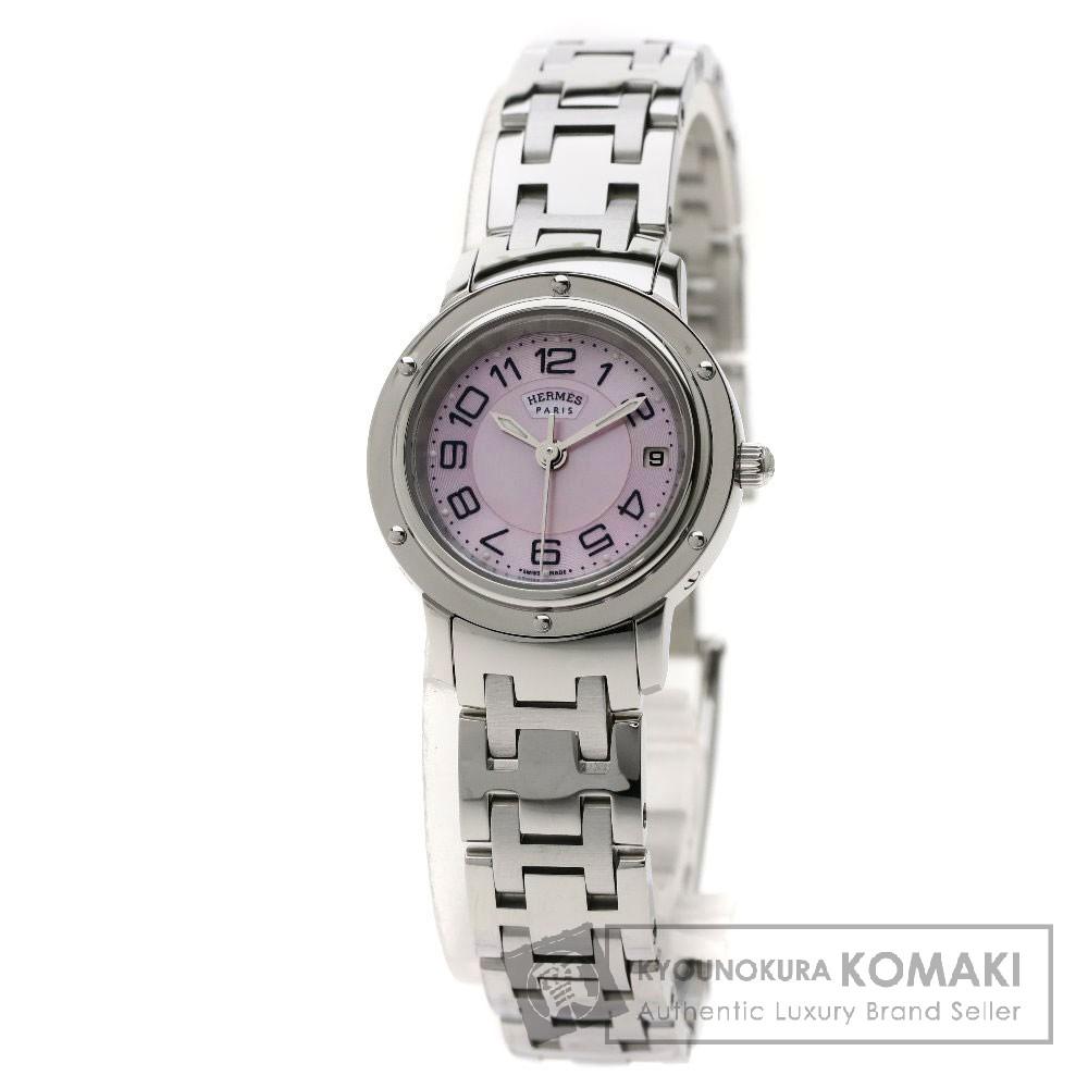 HERMES CP1.210 クリッパーナクレ 腕時計 ステンレススチール/SS レディース 【中古】【エルメス】