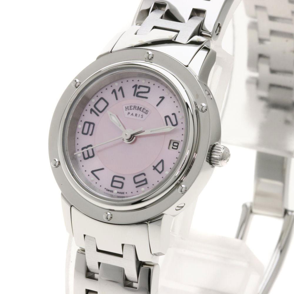 eeef669c3ee8 HERMES CP1.210 クリッパーナクレ 腕時計 ステンレススチール/SS レディース 【中古】【エルメス】 -レディース腕時計