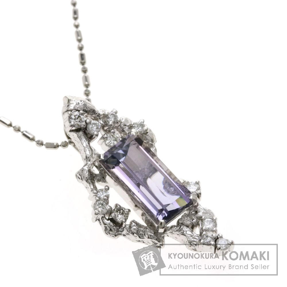 3.047ct タンザナイト/ダイヤモンド ネックレス プラチナPT900/PT850 8.6g レディース 【中古】