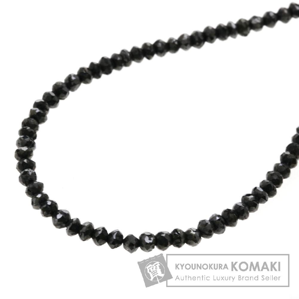 20ct ブラックダイヤモンド ネックレス K18ホワイトゴールド 4.8g レディース 【中古】