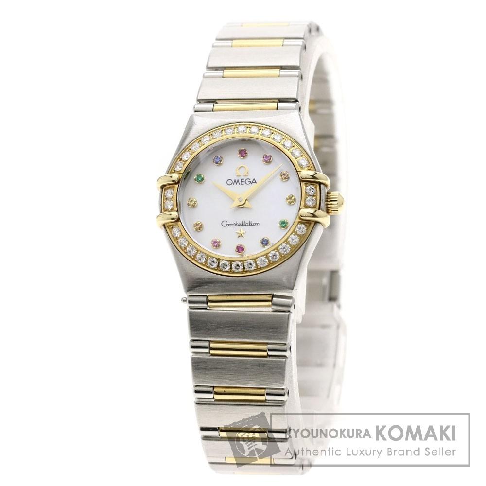 OMEGA 1360.79 コンステレーション ミニ アイリス ダイヤモンド/コンビ 腕時計 ステンレススチール レディース 【中古】【オメガ】