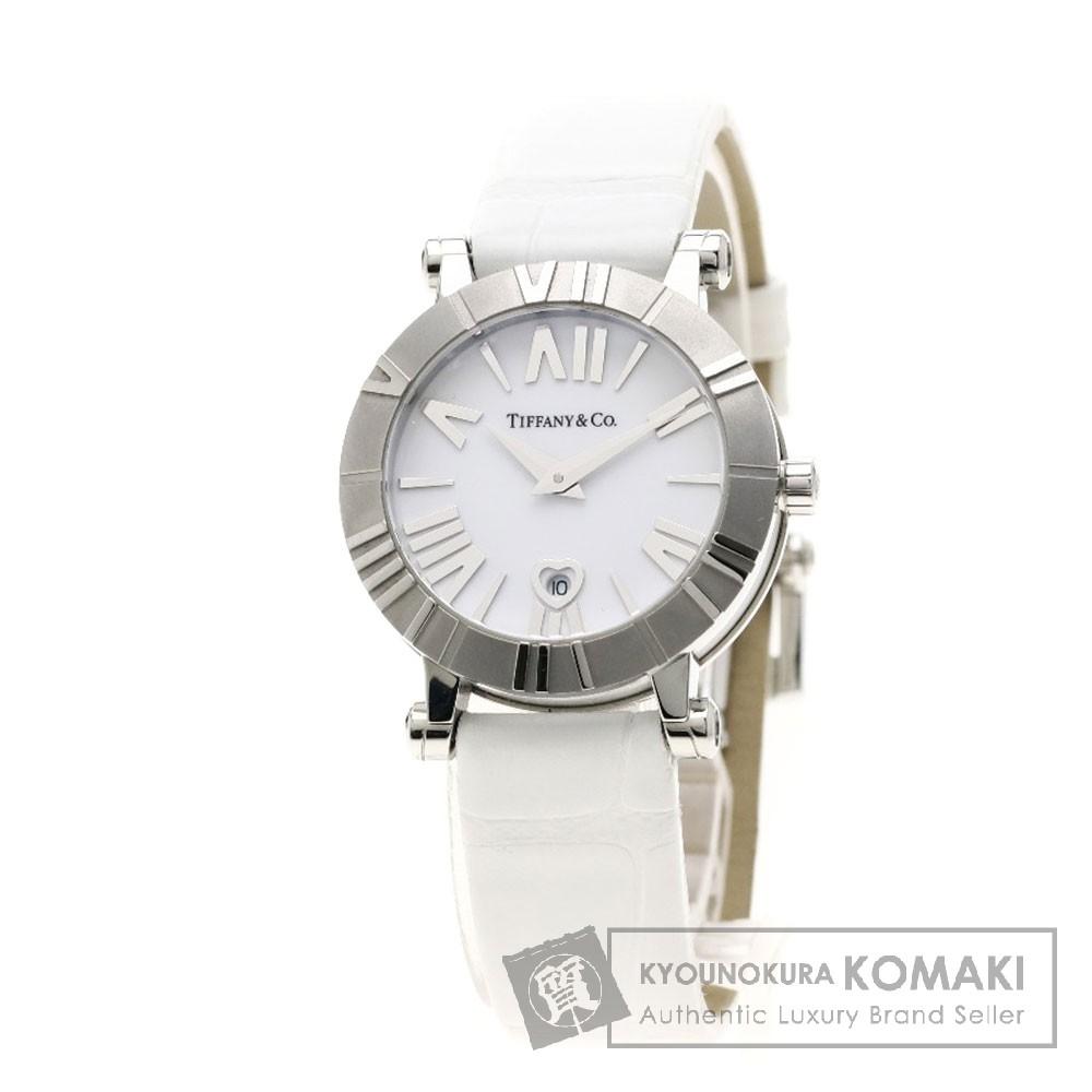 TIFFANY&Co. Z1300.11.11A20A71A アトラス30mm 腕時計 ステンレススチール/レザー レディース 【中古】【ティファニー】