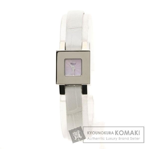 Chopard ユアアワー12/6749 腕時計 K18ホワイトゴールド/レザー レディース 【中古】【ショパール】