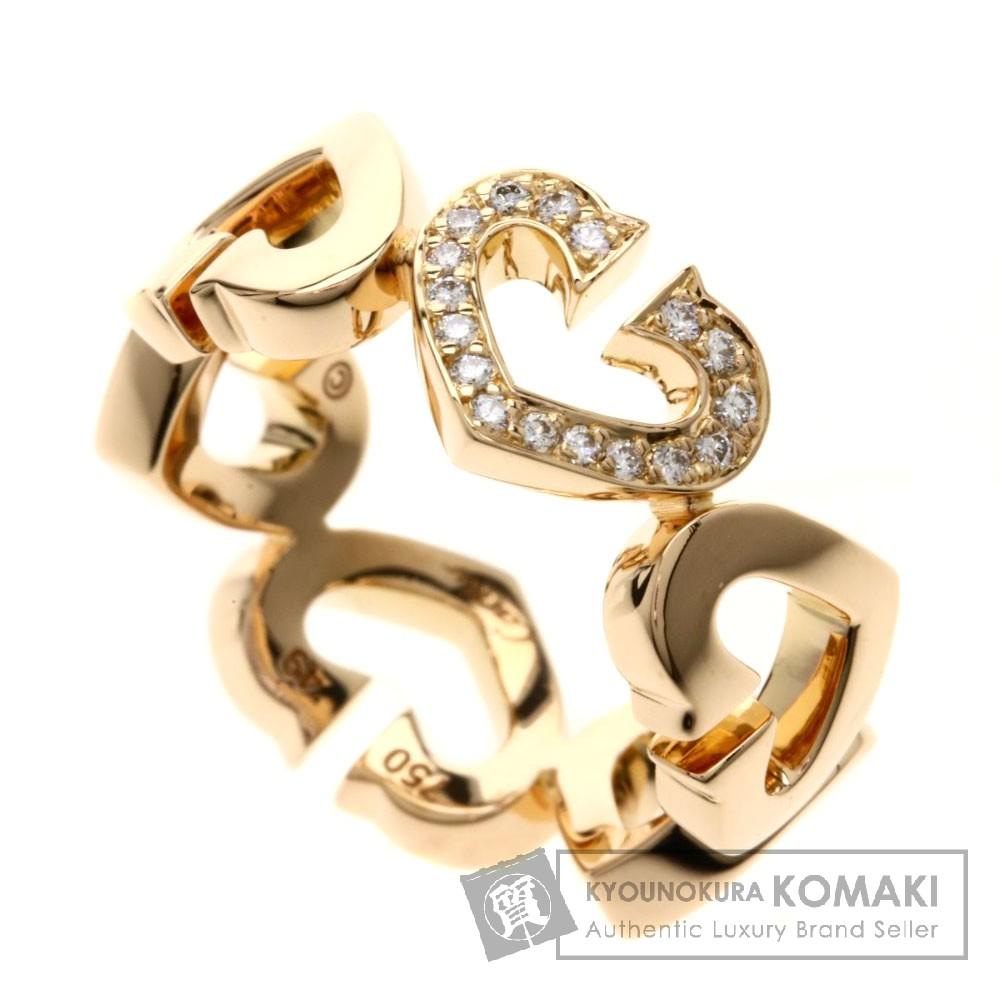 CARTIER B4047449 ハート&シンボル ダイヤモンド リング・指輪 K18ピンクゴールド レディース 【中古】【カルティエ】