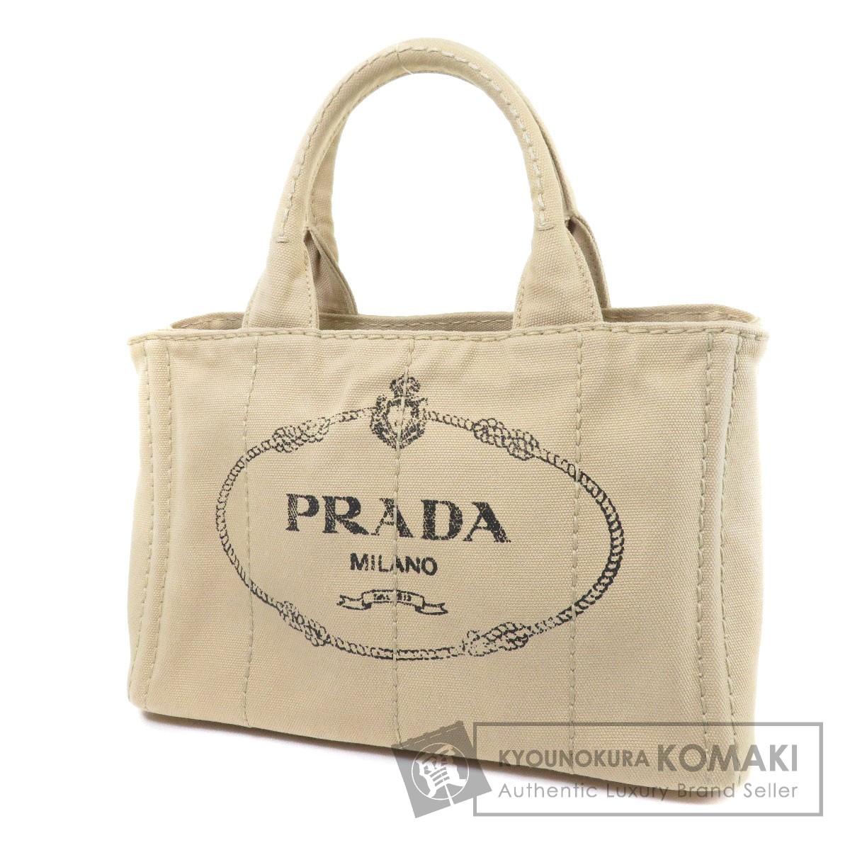 PRADA カナパ ミニ2WAY トートバッグ キャンバス レディース 【中古】【プラダ】