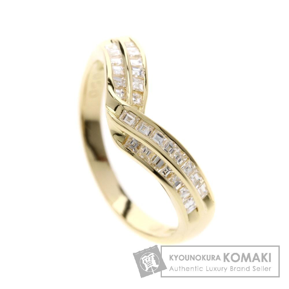 0.5ct メレダイヤモンド リング・指輪 K18イエローゴールド 3g レディース 【中古】