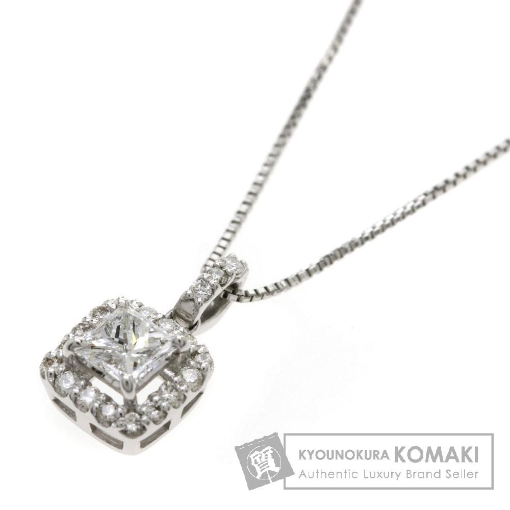 0.209ct ダイヤモンド ネックレス プラチナPT900/PT850 2.1g レディース 【中古】