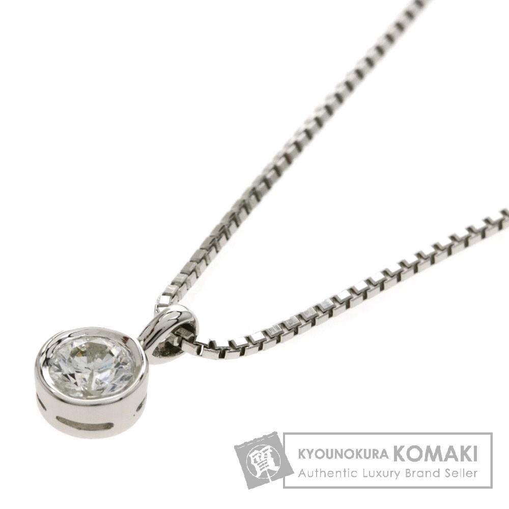 0.36ct ダイヤモンド ネックレス プラチナPT850/PT900 4.6g レディース 【中古】
