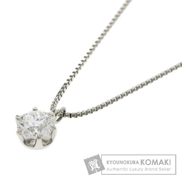 0.418ct ダイヤモンド ネックレス プラチナPT850/PT900 2.3g レディース 【中古】