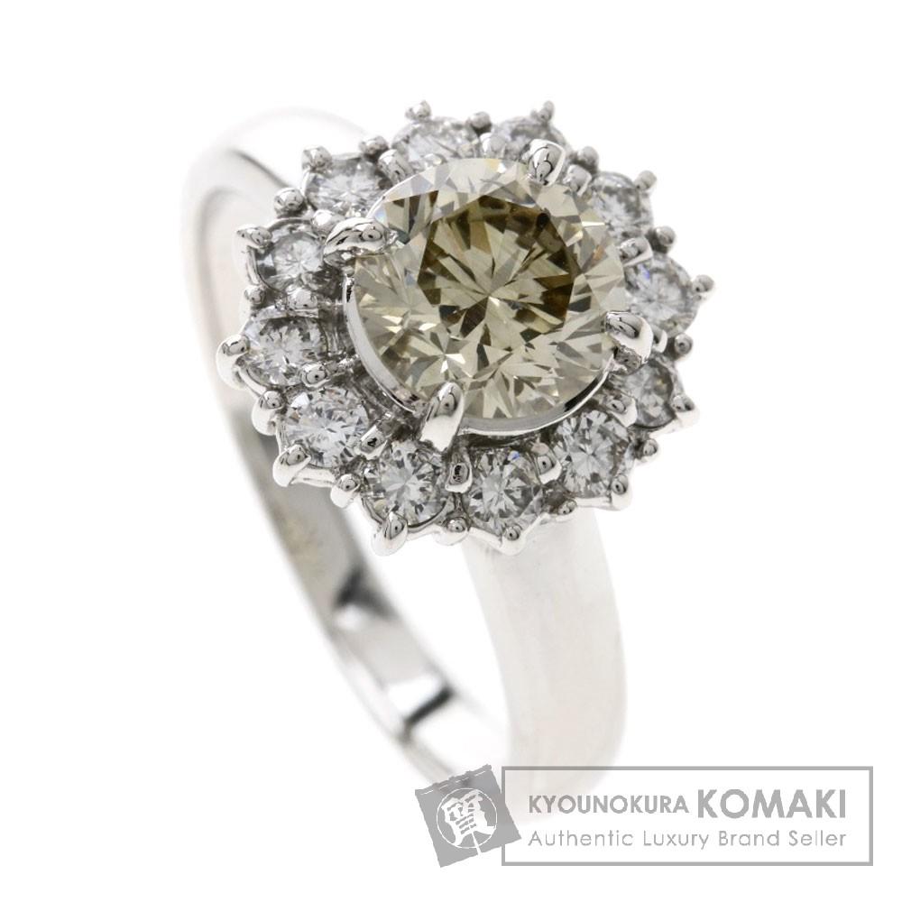 1.23ct ダイヤモンド/フラワーモチーフ リング・指輪 プラチナPT900 6.2g レディース 【中古】