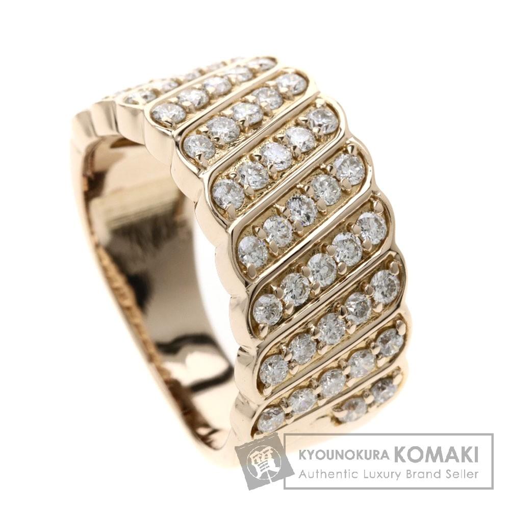 0.9ct メレダイヤモンド リング・指輪 K18ピンクゴールド 7.1g レディース 【中古】