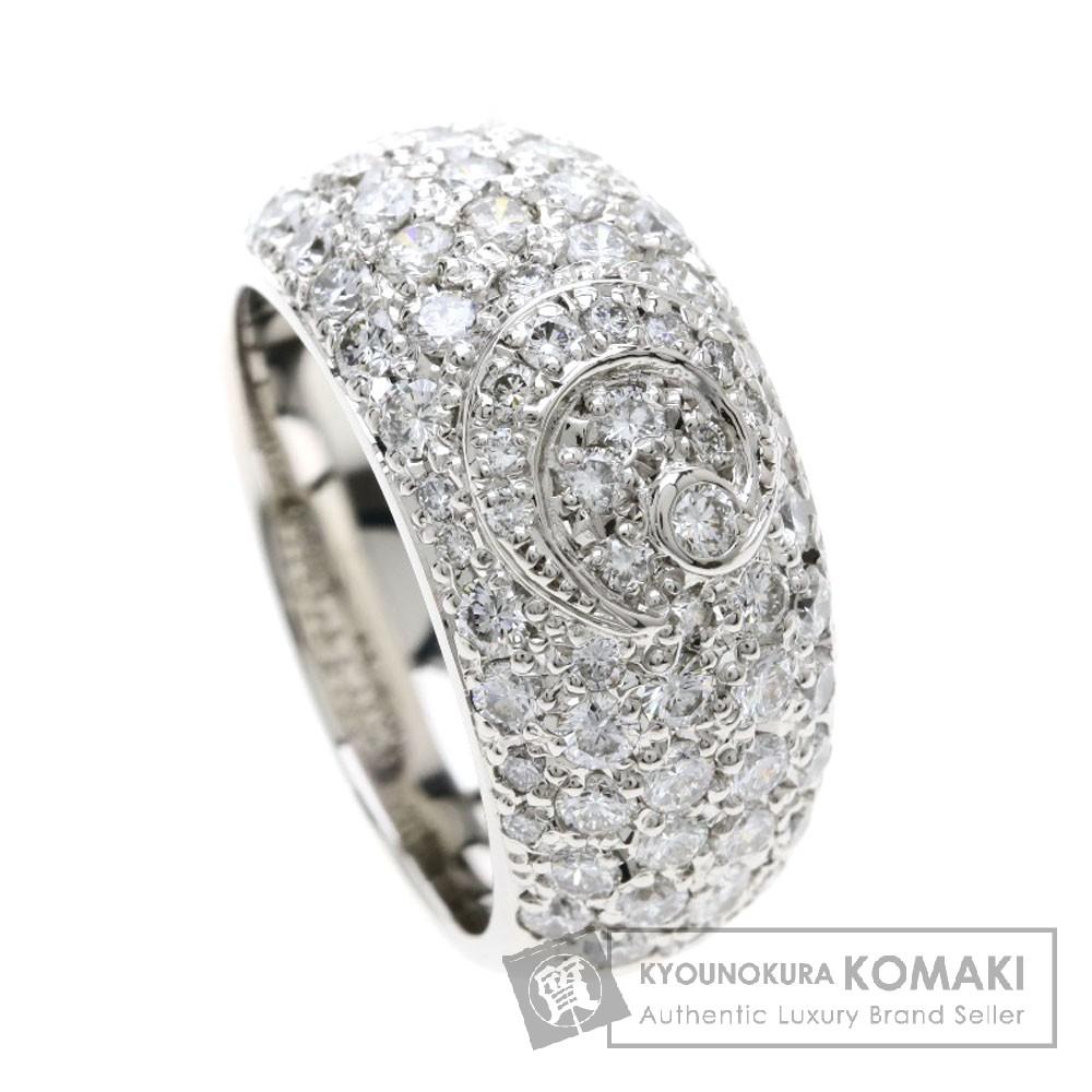 2ct メレダイヤモンド/三日月 リング・指輪 プラチナPT900 15.4g レディース 【中古】