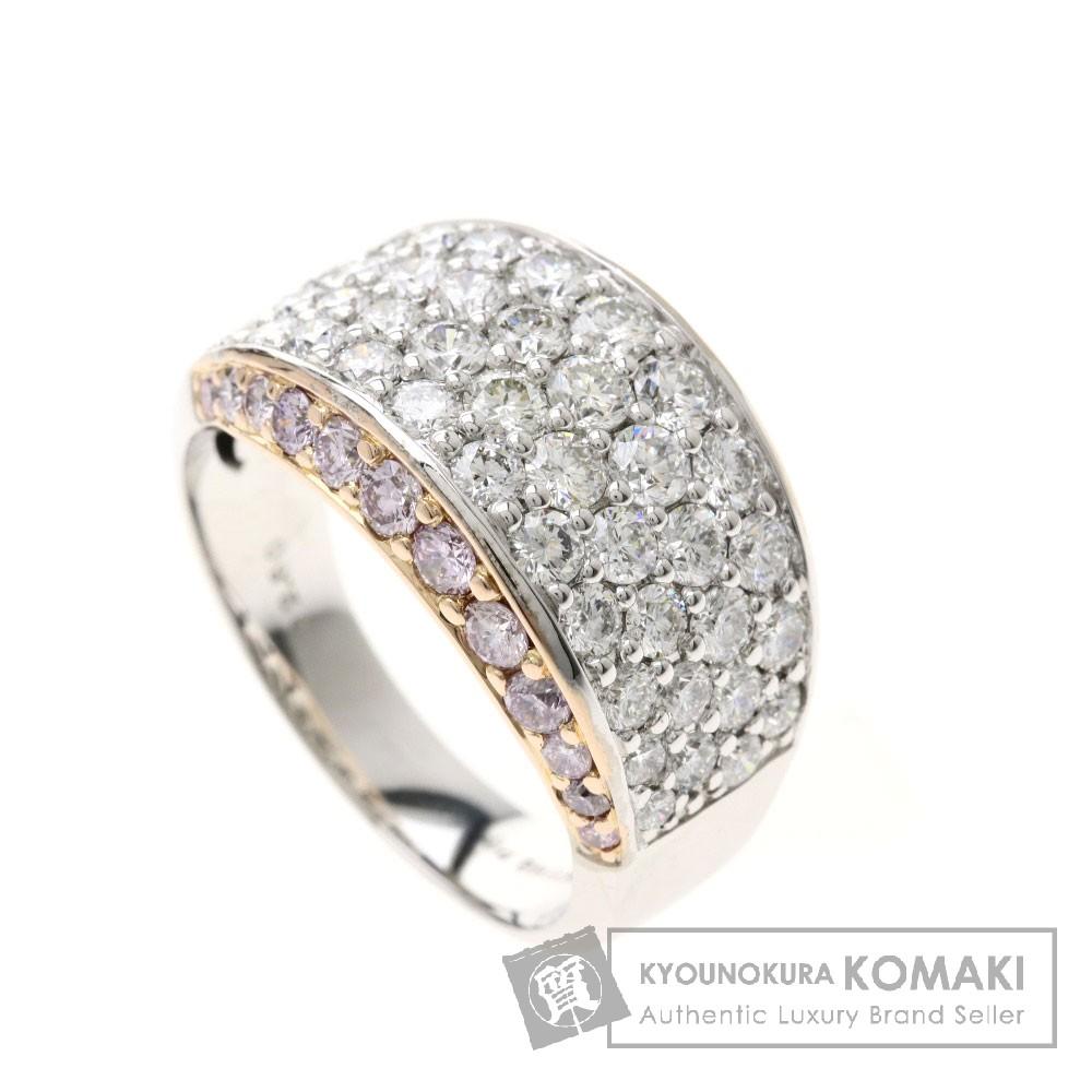 2.6ct メレダイヤモンド/コンビ リング・指輪 K18ホワイトゴールド/PG 8.6g レディース 【中古】