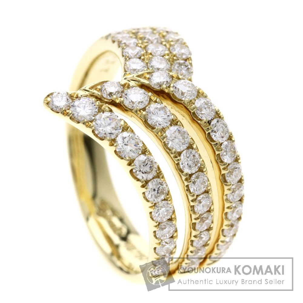 JUNE メレダイヤモンド リング・指輪 K18イエローゴールド レディース 【中古】【ジュネ】
