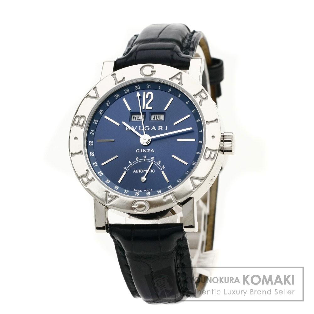 BVLGARI BBW38GLAC ブルガリブルガリ 銀座60本限定 腕時計 K18ホワイトゴールド/レザー メンズ 【中古】【ブルガリ】