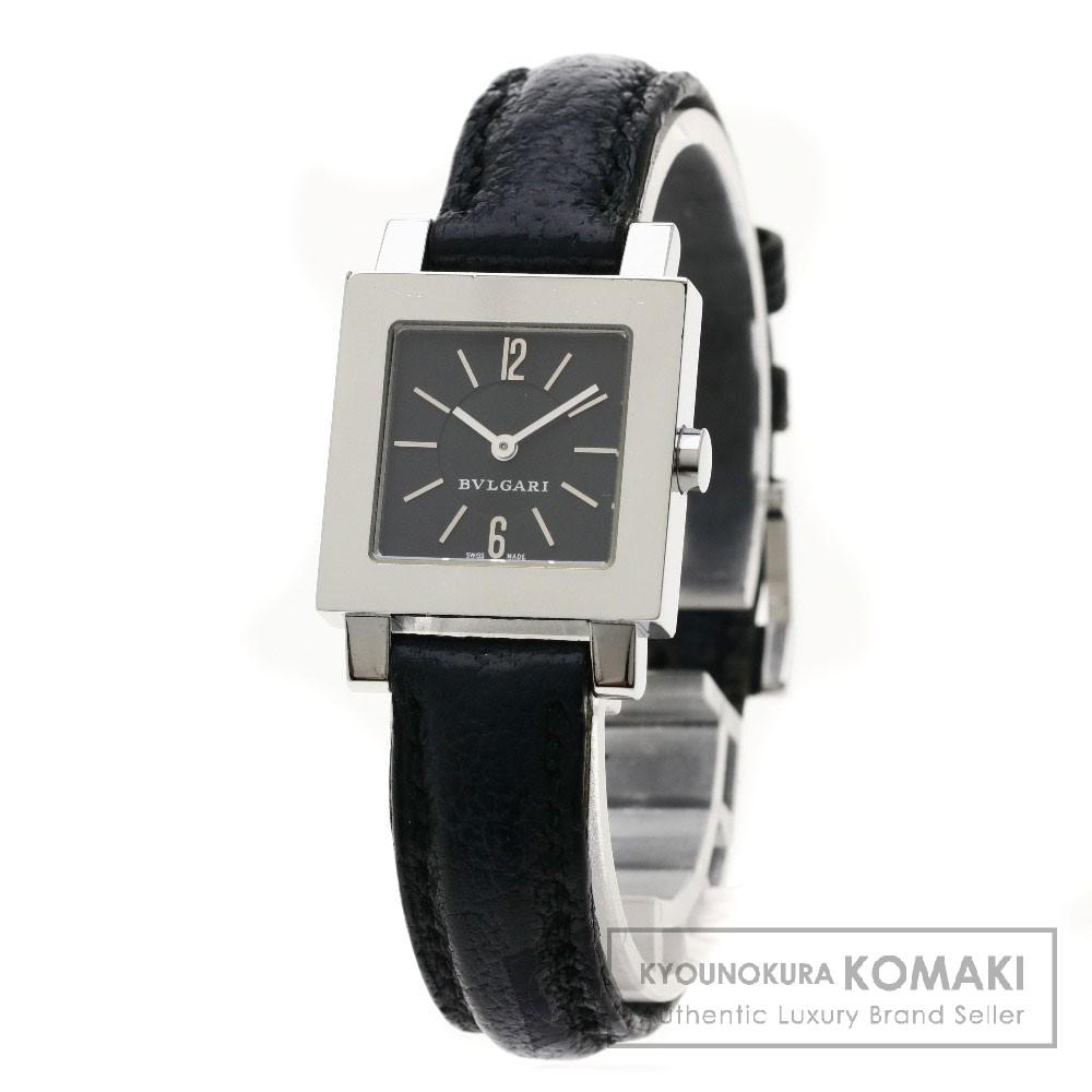 BVLGARI SQ22SL クアドラード 腕時計 ステンレススチール/レザー レディース 【中古】【ブルガリ】