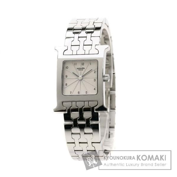 HERMES HH1.210 Hウォッチ 腕時計 ステンレススチール レディース 【中古】【エルメス】