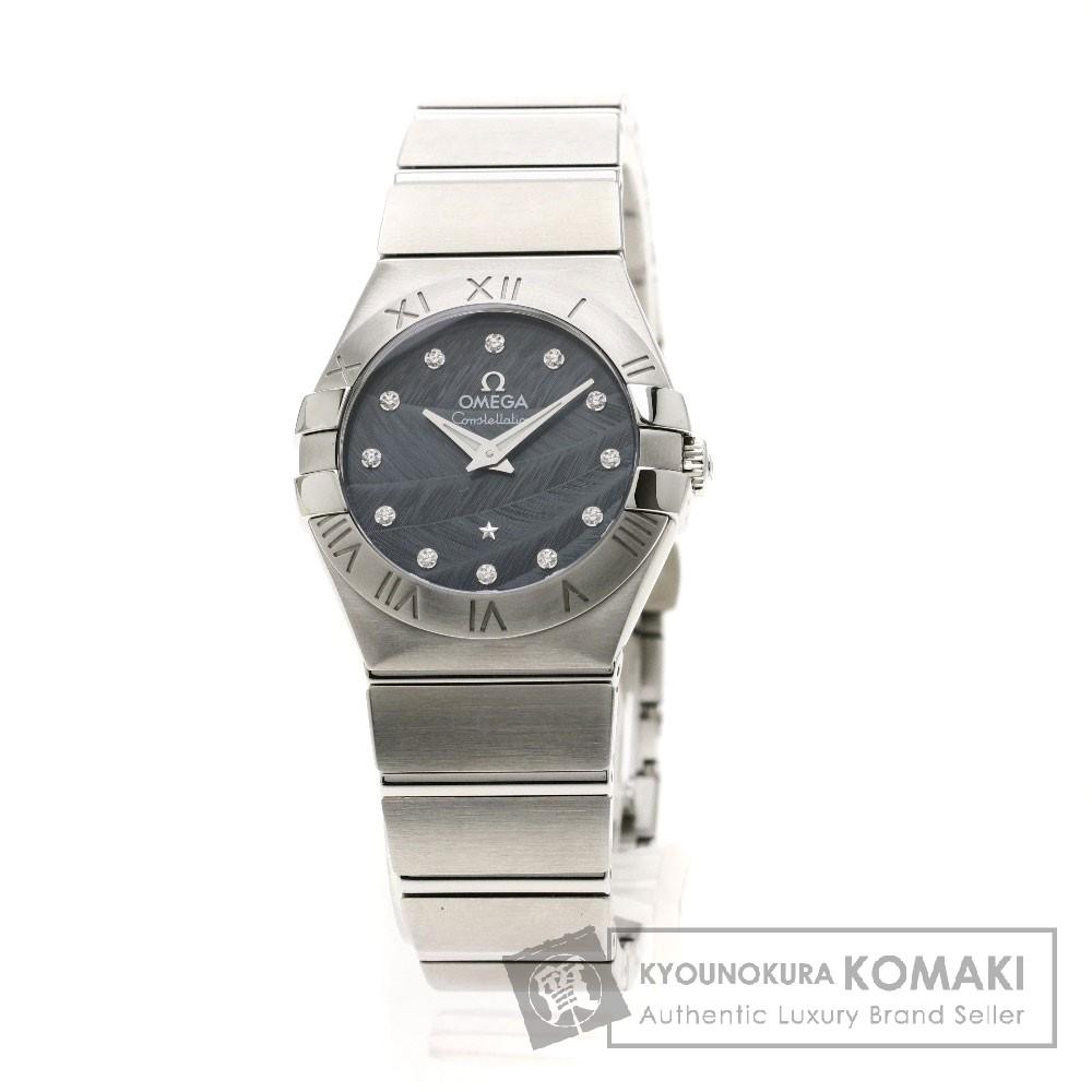 OMEGA 123.10.27.60.53.001 コンステレーション ブラッシュ 12Pダイヤモンド 腕時計 ステンレススチール レディース 【中古】【オメガ】