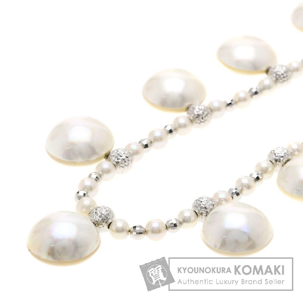 ベビーパール/マベパール/真珠 ネックレス プラチナPT850 24.9g レディース 【中古】