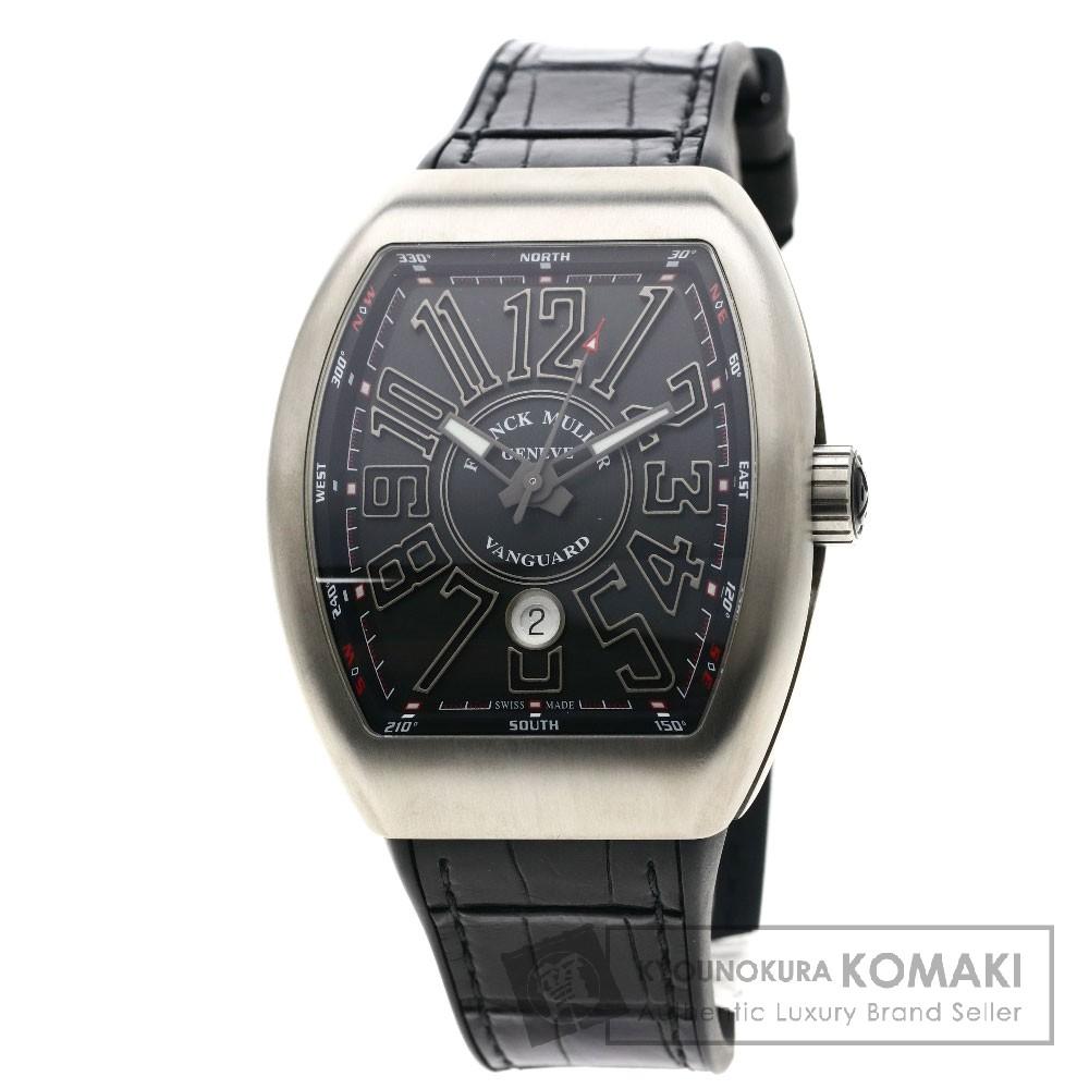 FRANCK MULLER V45SCDT ヴァンガード 腕時計 チタン/アリゲーターラバー メンズ 【中古】【フランクミュラー】