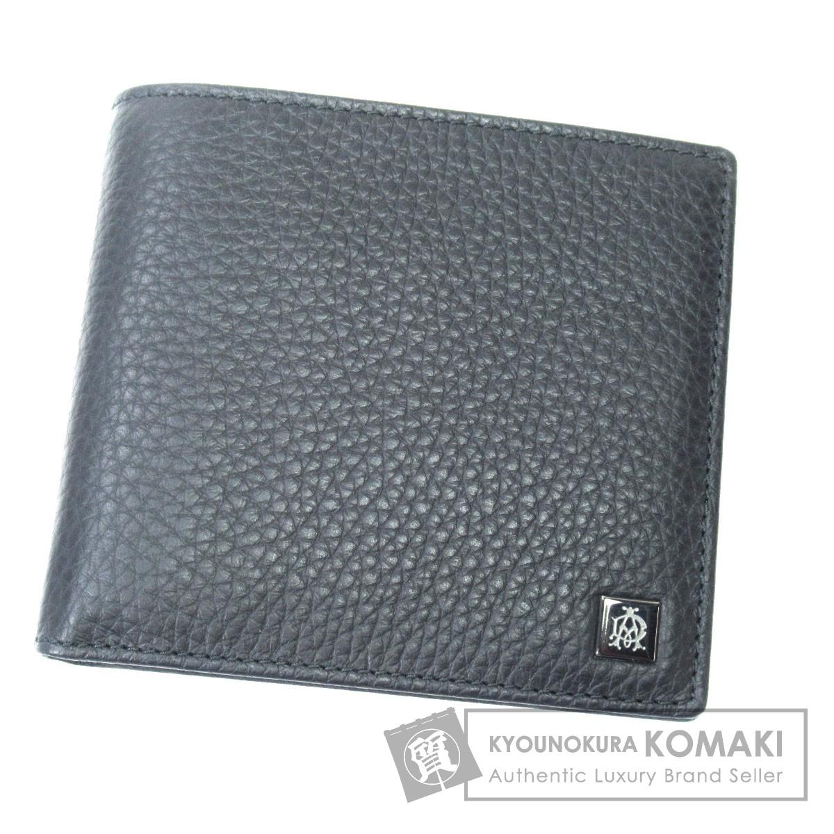 Dunhill ロゴマーク 二つ折り財布(小銭入れなし) カーフ メンズ 【中古】【ダンヒル】