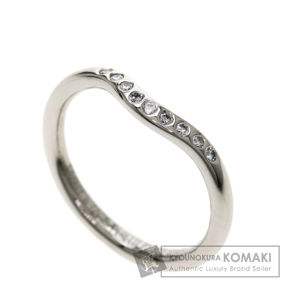 TIFFANY&Co. カーブドバンドリング ダイヤモンド リング・指輪 プラチナPT950 レディース 【中古】【ティファニー】