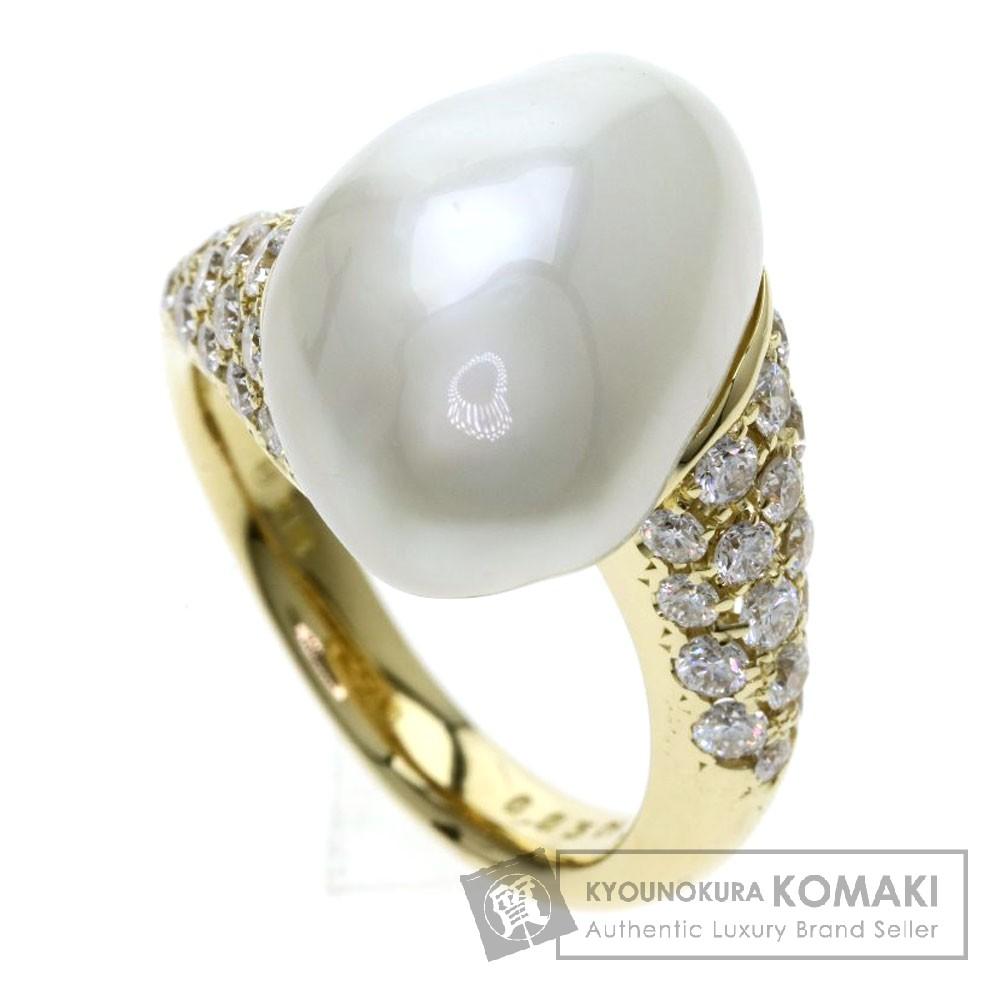 MIKIMOTO パール/真珠/ダイヤモンド リング・指輪 K18イエローゴールド レディース 【中古】【ミキモト】
