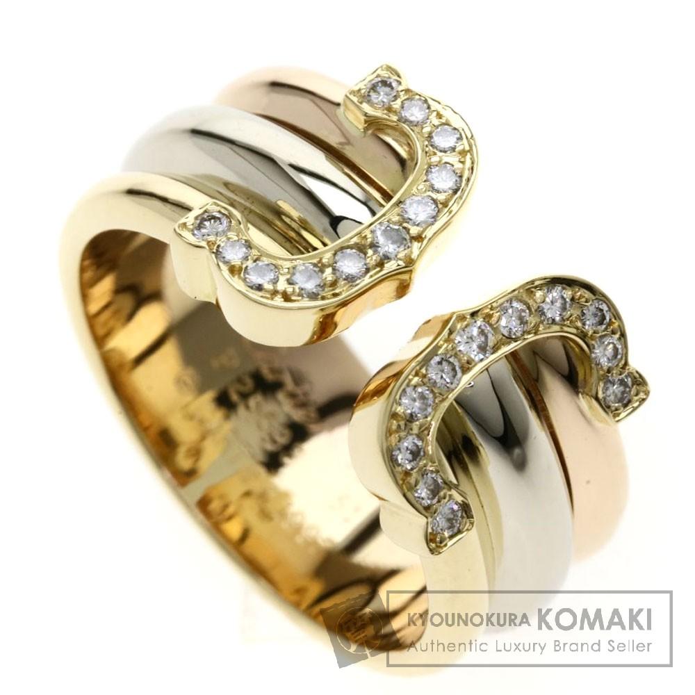 CARTIER 2C ダイヤモンド 3カラー リング・指輪 K18イエローゴールド/K18WG/K18PG レディース 【中古】【カルティエ】