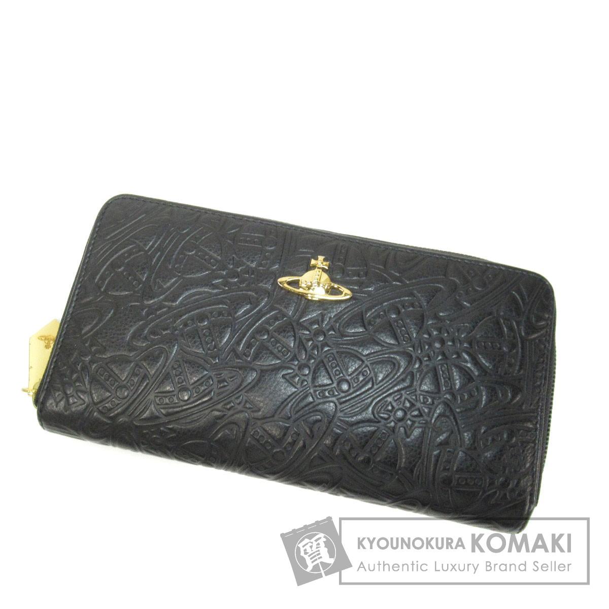 Vivienne Westwood ロゴモチーフ 長財布(小銭入れあり) レザー レディース 【中古】【ヴィヴィアンウエストウッド】