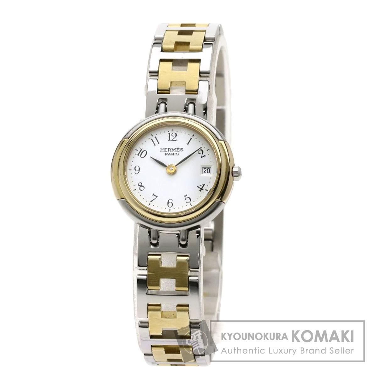 HERMES ウィンザ 腕時計 ステンレススチール/SSxGP レディース 【中古】【エルメス】