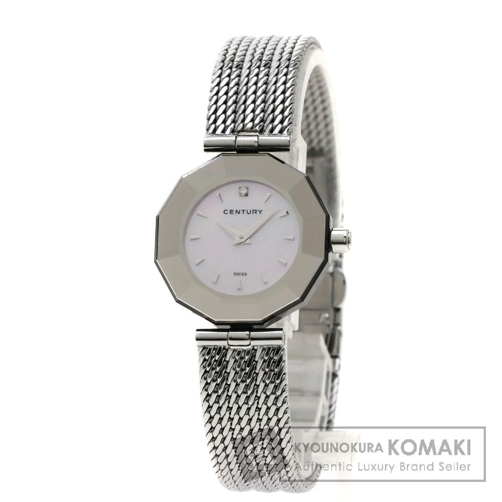 CENTURY タイムジェム 腕時計 ステンレススチール レディース 【中古】【センチュリー】