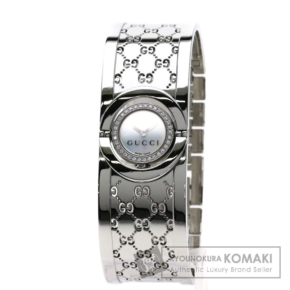 GUCCI YA112 トワール バングル 腕時計 ステンレススチール/ダイヤモンド レディース 【中古】【グッチ】