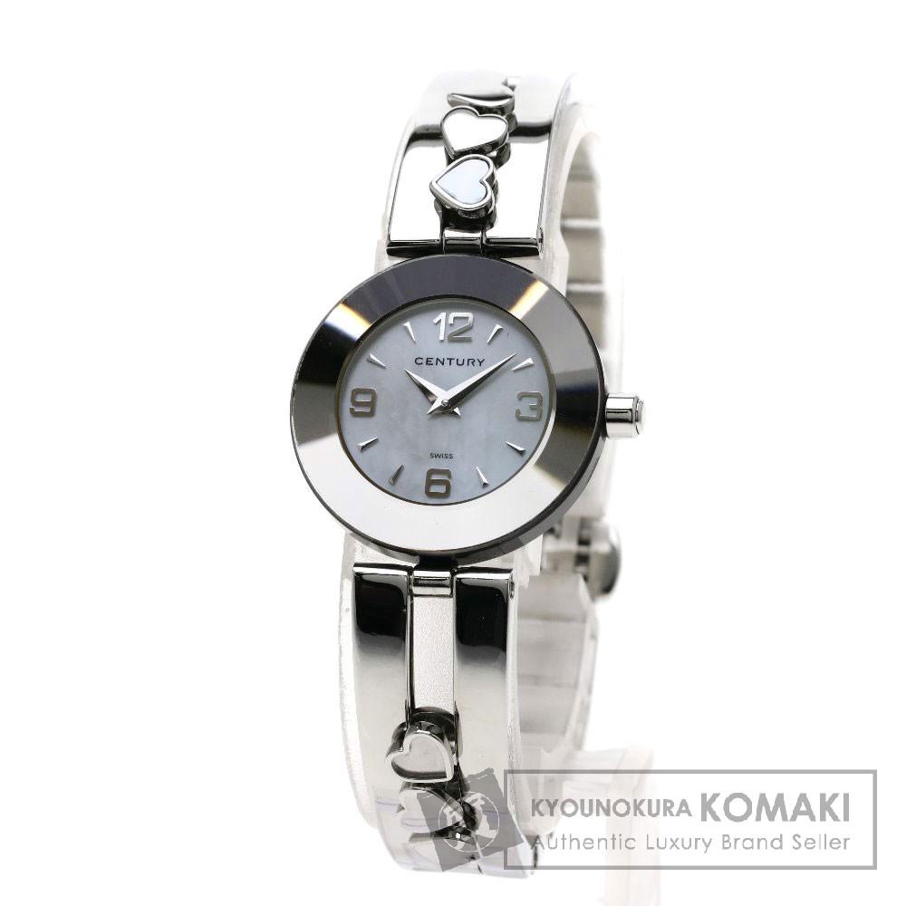 CENTURY タイムジェム/ハートチャーム 腕時計 ステンレススチール レディース 【中古】【センチュリー】