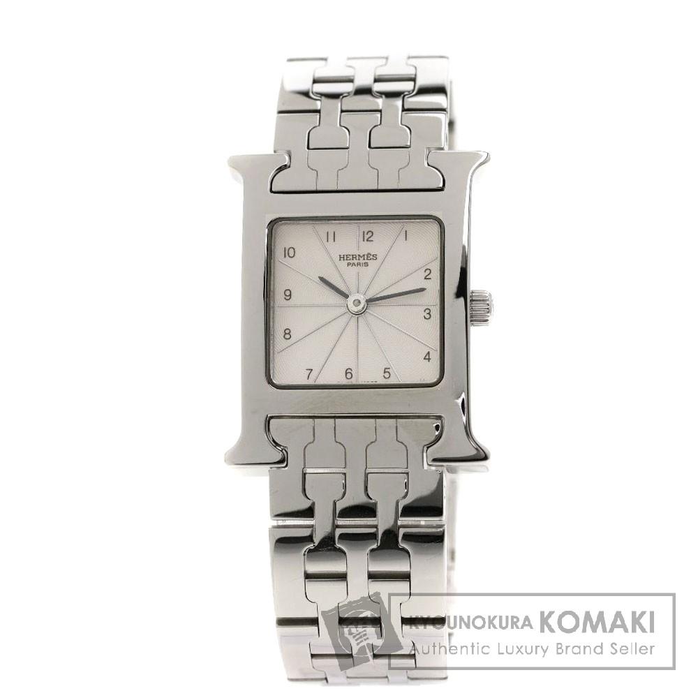HERMES HH.1.210 Hウォッチ 腕時計 ステンレススチール/SS レディース 【中古】【エルメス】