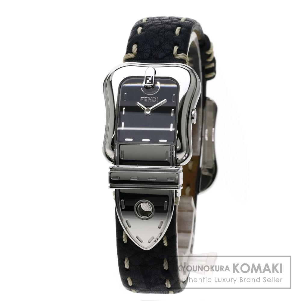 FENDI 3800L セレリア 腕時計 ステンレススチール/革 レディース 【中古】【フェンディ】