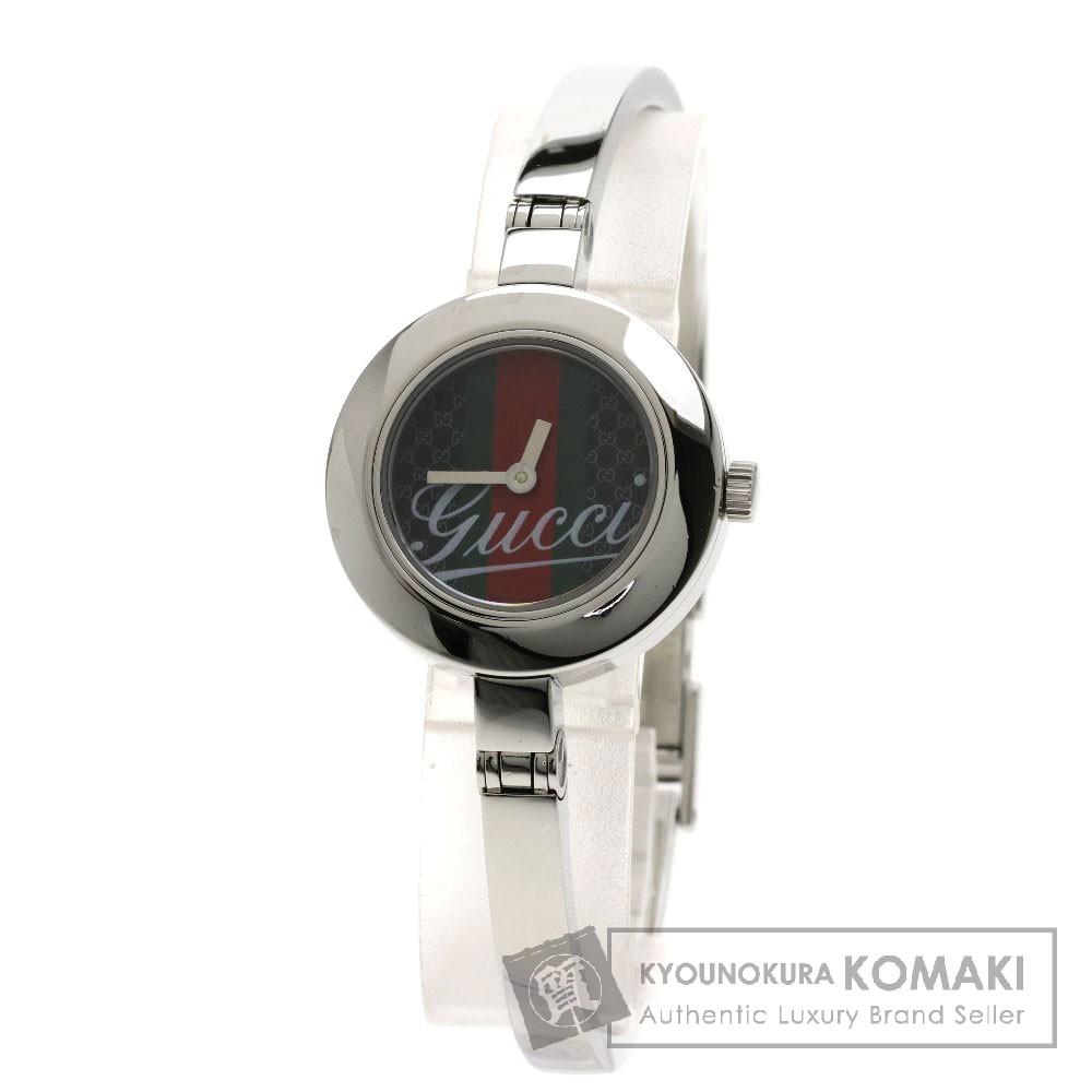 GUCCI YA105 腕時計 ステンレススチール レディース 【中古】【グッチ】