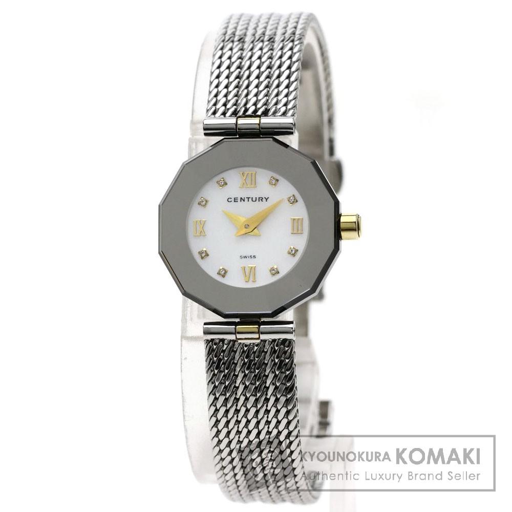 CENTURY タイムジェム 8Pダイヤモンド 腕時計 ステンレススチール/SS レディース 【中古】【センチュリー】