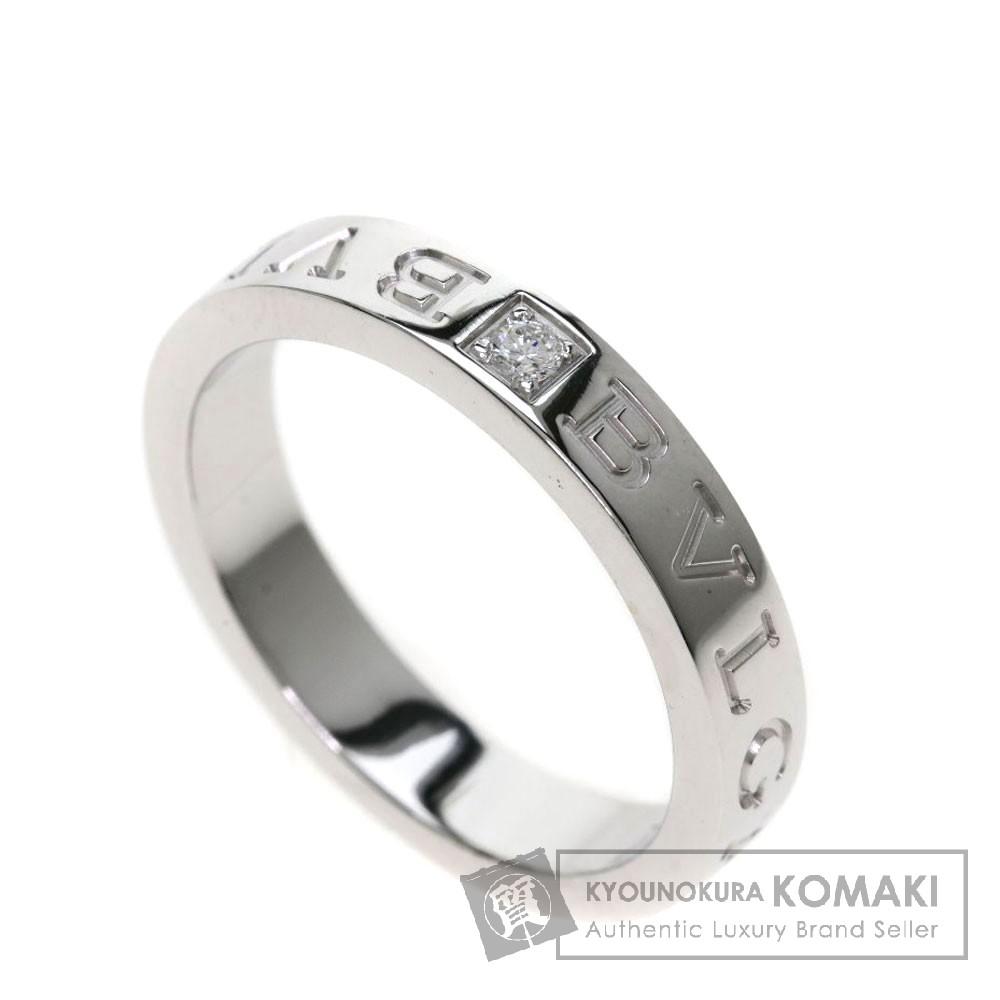 BVLGARI ダブルロゴリング/ダイヤモンド リング・指輪 K18ホワイトゴールド レディース 【中古】【ブルガリ】