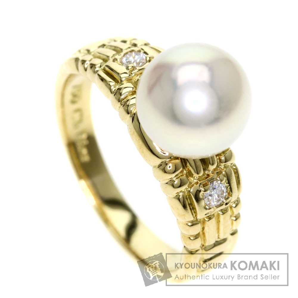 CHRISTIAN DIOR パール/真珠/ダイヤモンド リング・指輪 K18イエローゴールド レディース 【中古】【クリスチャンディオール】