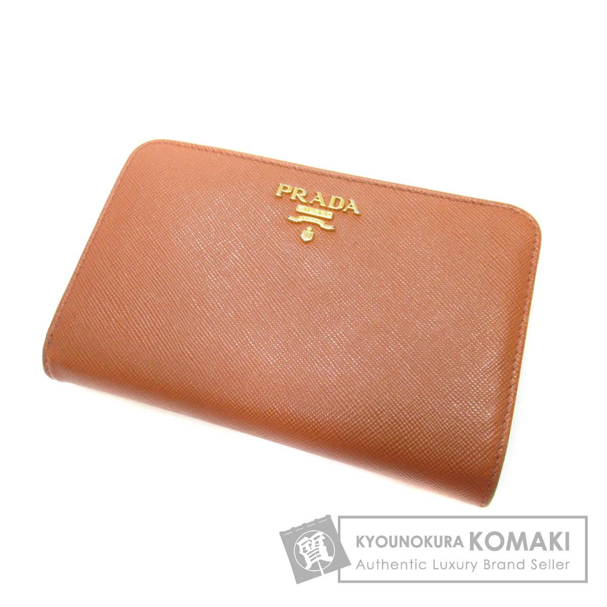 PRADA ロゴモチーフ 二つ折り財布(小銭入れあり) レザー レディース 【中古】【プラダ】