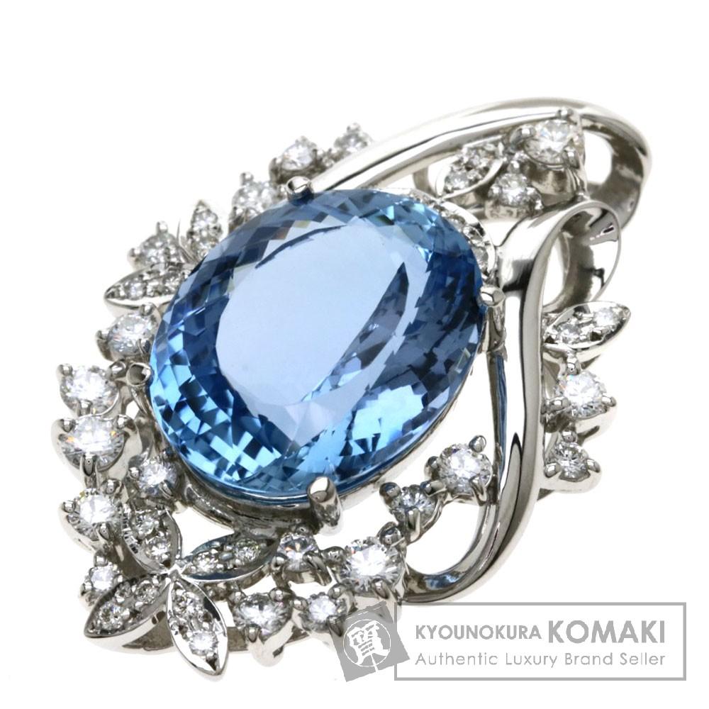 AQ8.04ct アクアマリン/ダイヤモンド ペンダント プラチナPT1000 11g レディース 【中古】