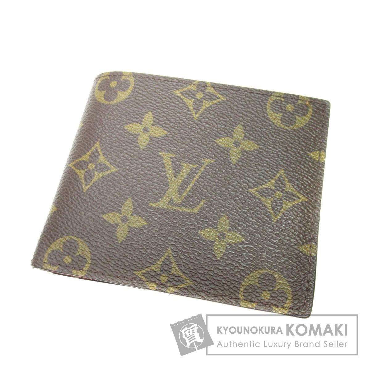 LOUIS VUITTON M61675 ポルトフォイユ・マルコ 二つ折り財布(小銭入れあり) モノグラムキャンバス メンズ 【中古】【ルイ・ヴィトン】